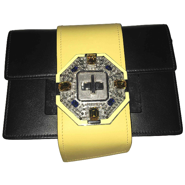 Prada Ribbon Black Leather Handbag