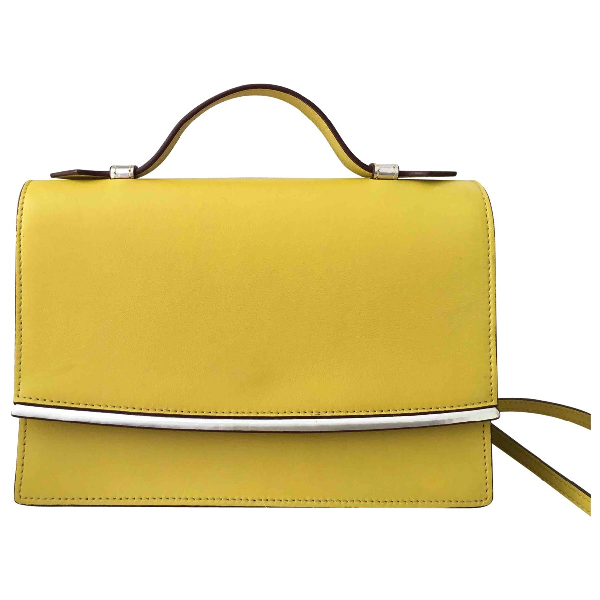 Max Mara Yellow Leather Handbag