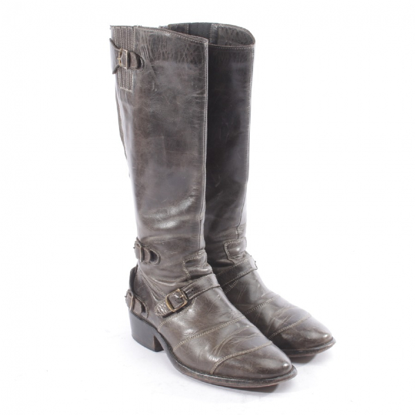 Belstaff Grey Leather Boots