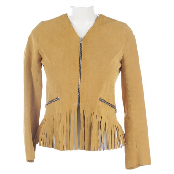 Sandro Yellow Leather Jacket
