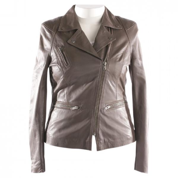 Muubaa Grey Leather Jacket