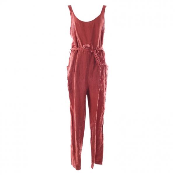 Rachel Zoe Brown Linen Jumpsuit