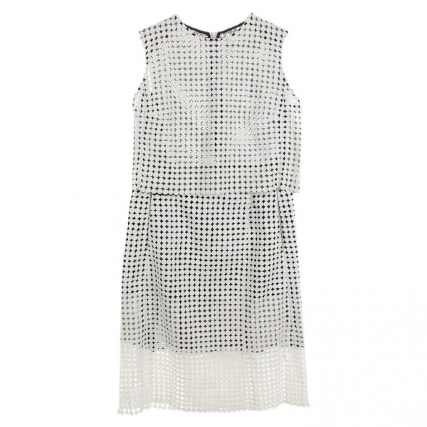 Victoria Beckham White Cotton Jumpsuit