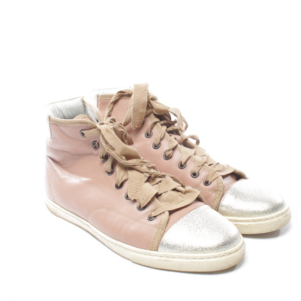 Lanvin Pink Leather Trainers