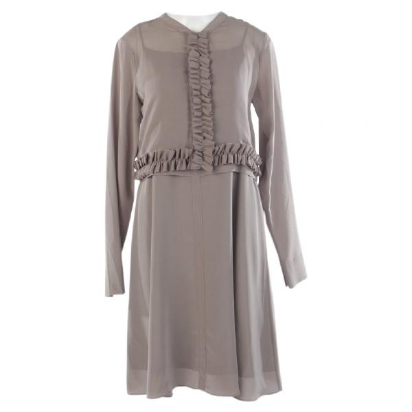 Dorothee Schumacher Brown Silk Dress