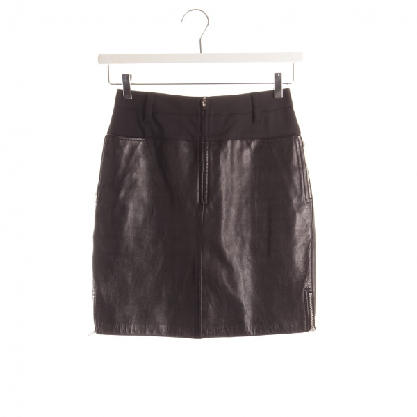 3.1 Phillip Lim Black Leather Skirt