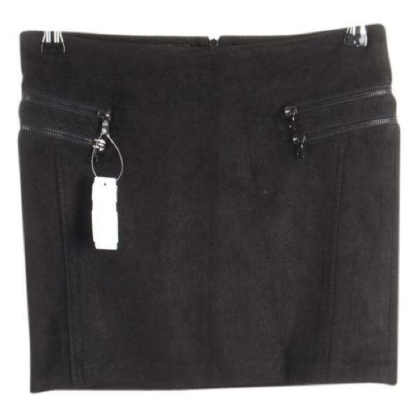 Drome Black Leather Skirt