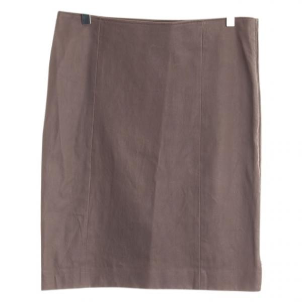 Joseph Grey Leather Skirt