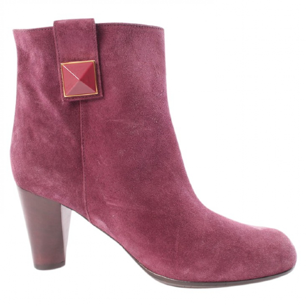Marc Jacobs Purple Suede Ankle Boots