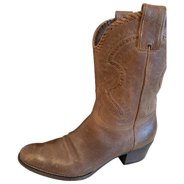 Sartore Brown Leather Ankle Boots