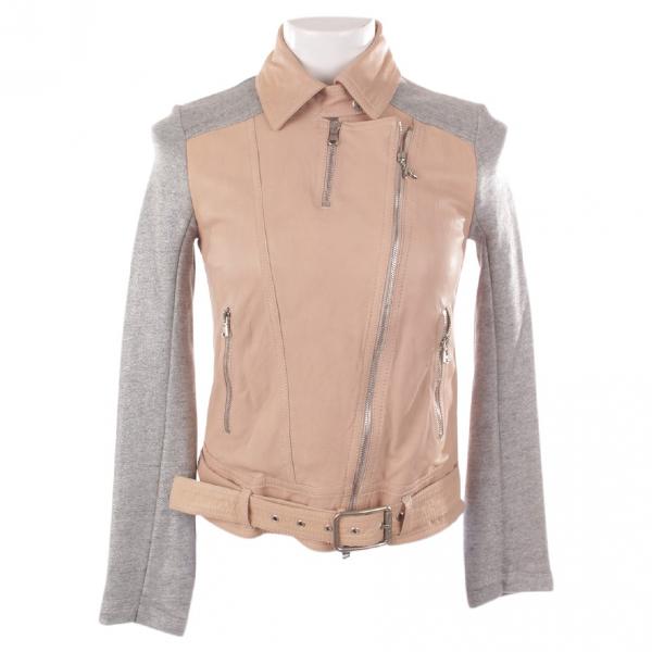 Patrizia Pepe Beige Leather Jacket
