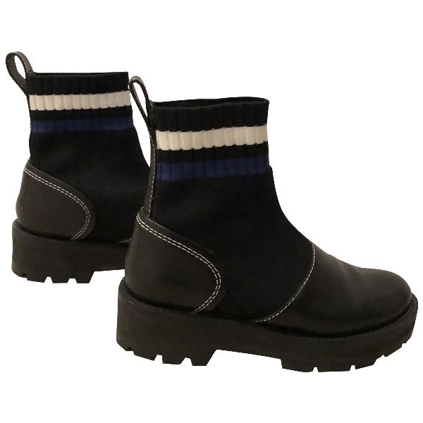 3.1 Phillip Lim Black Leather Ankle Boots