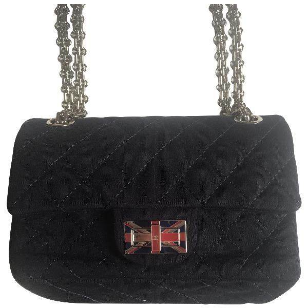Chanel 2.55 Navy Cloth Handbag