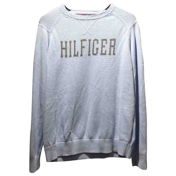Tommy Hilfiger Blue Cotton Knitwear & Sweatshirts