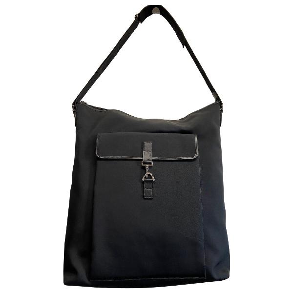 Gucci Black Cloth Travel Bag