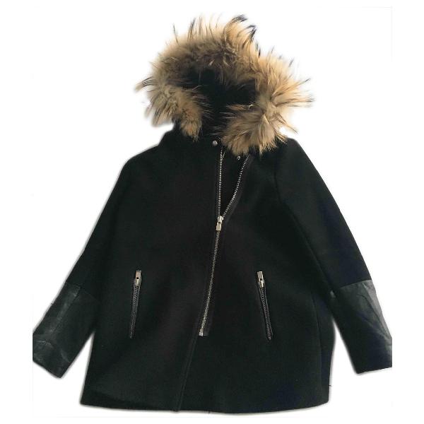 Sandro Black Wool Coat