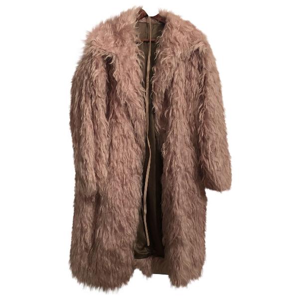 N°21 Pink Faux Fur Coat