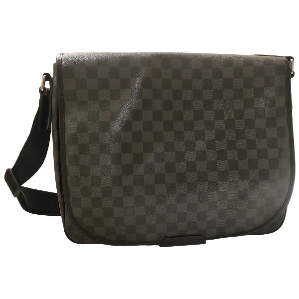 Louis Vuitton Daniel Mm Satchel Anthracite Cloth Bag