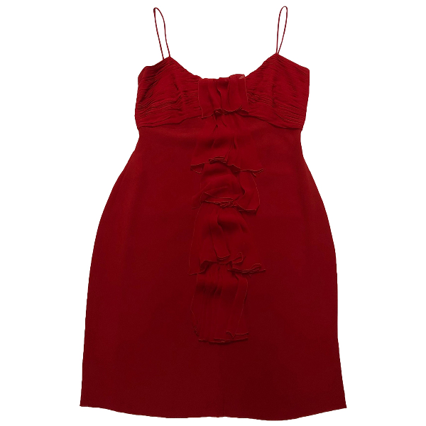 Valentino Red Silk Dress
