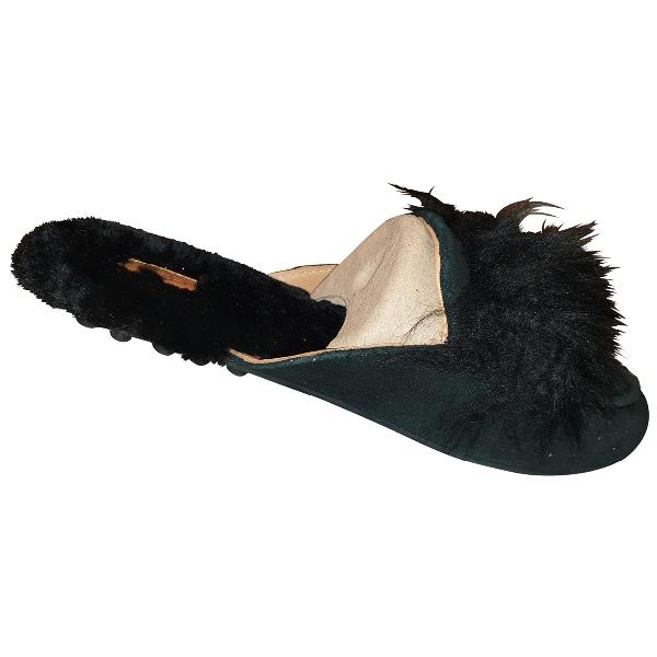 Ugg Black Faux Fur Sandals