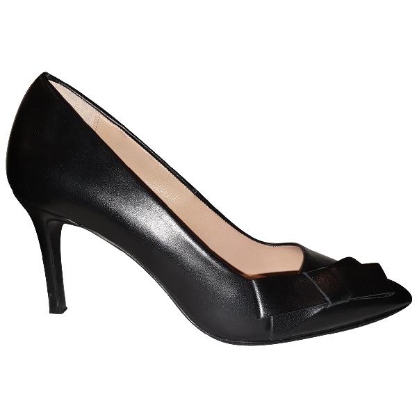 Claudie Pierlot Black Leather Heels