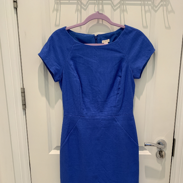 J.crew Blue Cotton Dress