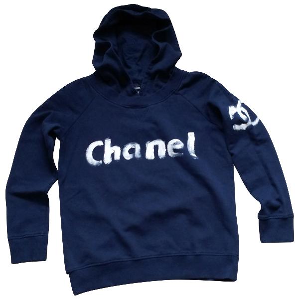Chanel Navy Cotton Knitwear & Sweatshirts