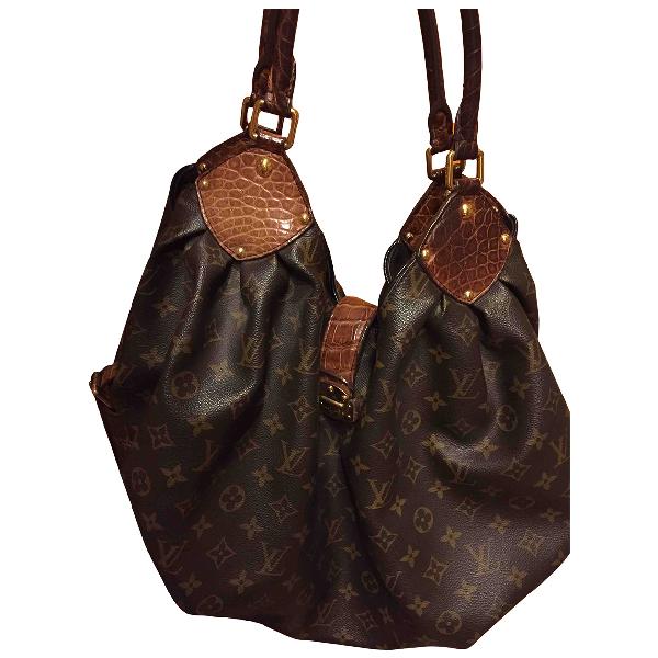 Louis Vuitton Mahina Brown Leather Travel Bag