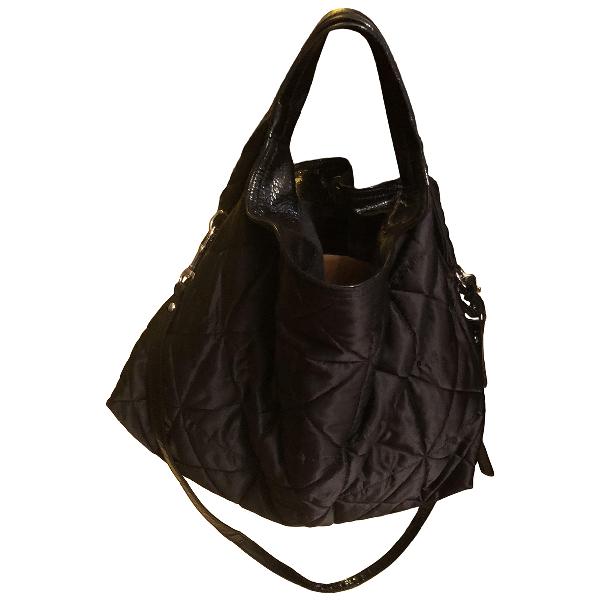 Furla Black Cloth Handbag