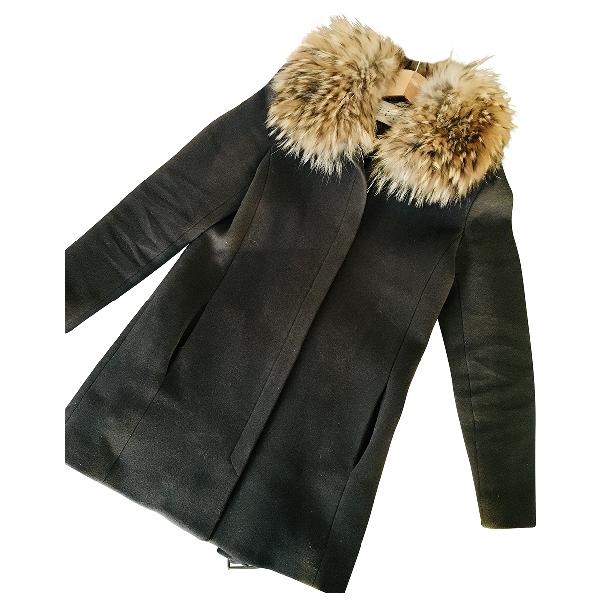 Claudie Pierlot Khaki Cashmere Coat