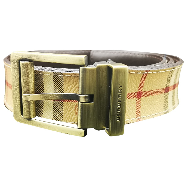 Burberry Beige Leather Belt