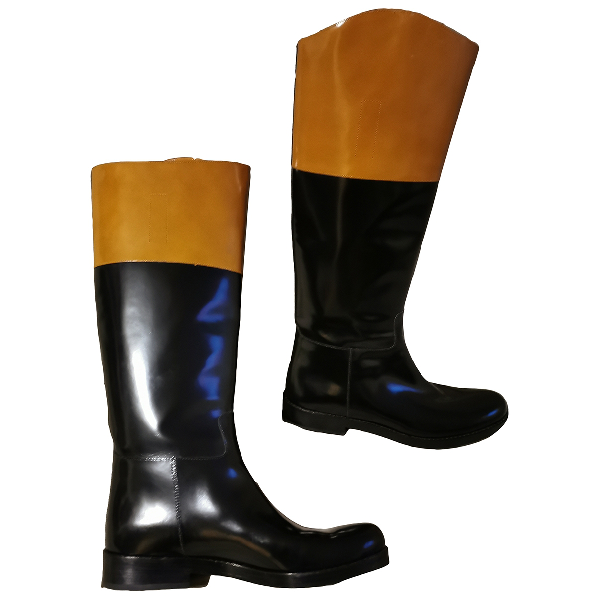 Michael Kors Brown Patent Leather Boots