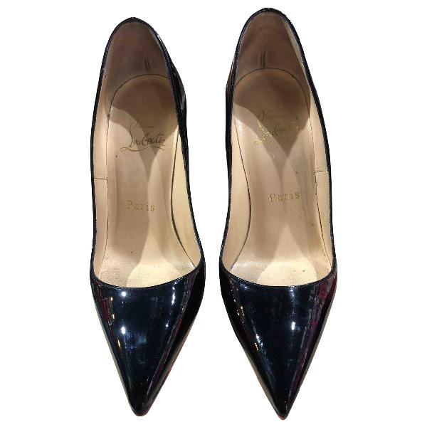 Christian Louboutin So Kate  Black Patent Leather Heels