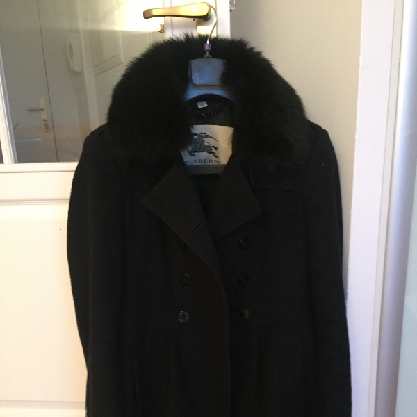 Burberry Black Fur Coat