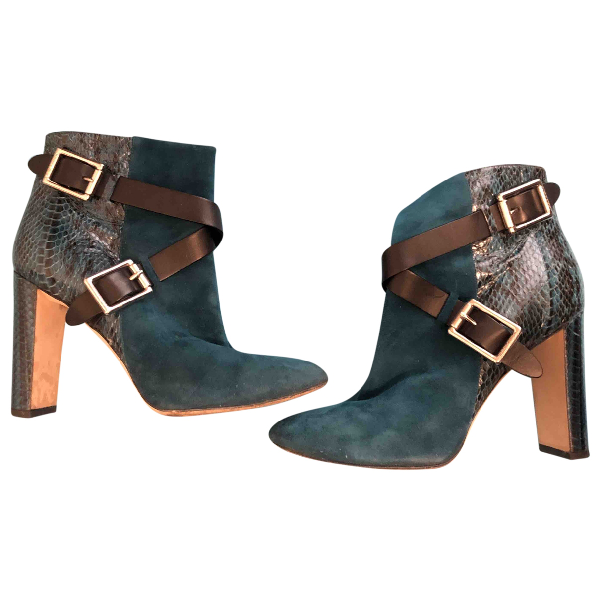 Jimmy Choo Turquoise Python Boots