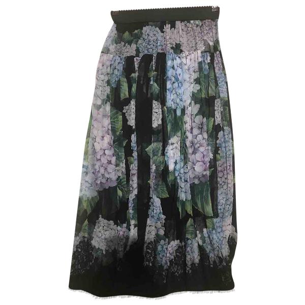 Dolce & Gabbana Multicolour Silk Skirt