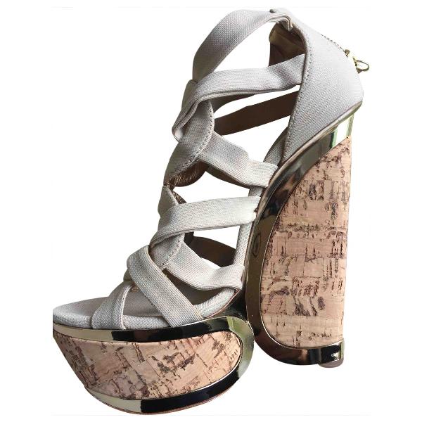 Casadei Beige Cloth Sandals