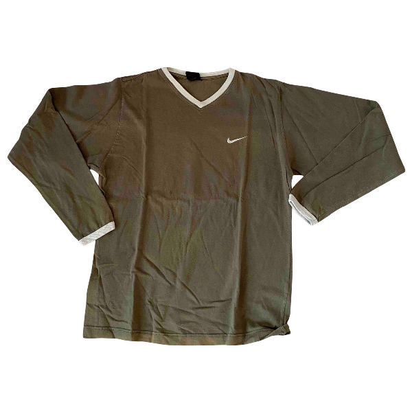 Nike Green Cotton  Top