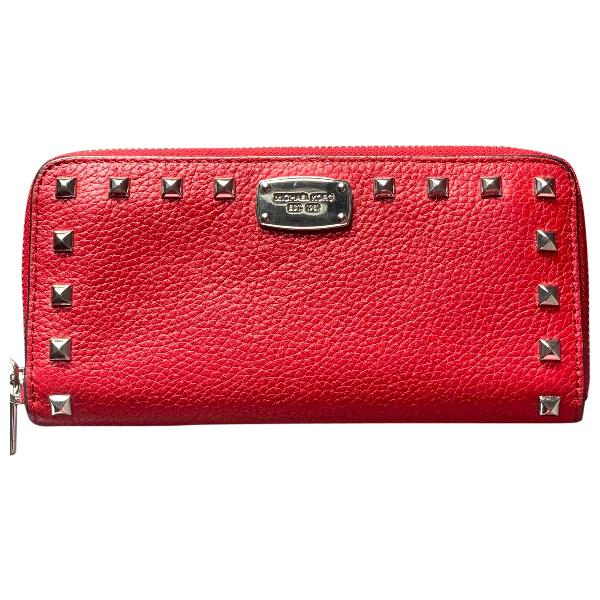 Michael Kors Jet Set Red Leather Wallet