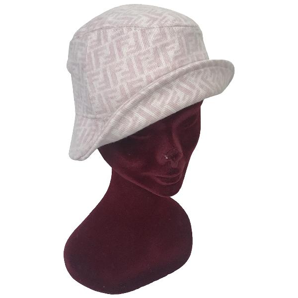 Fendi Pink Wool Hat