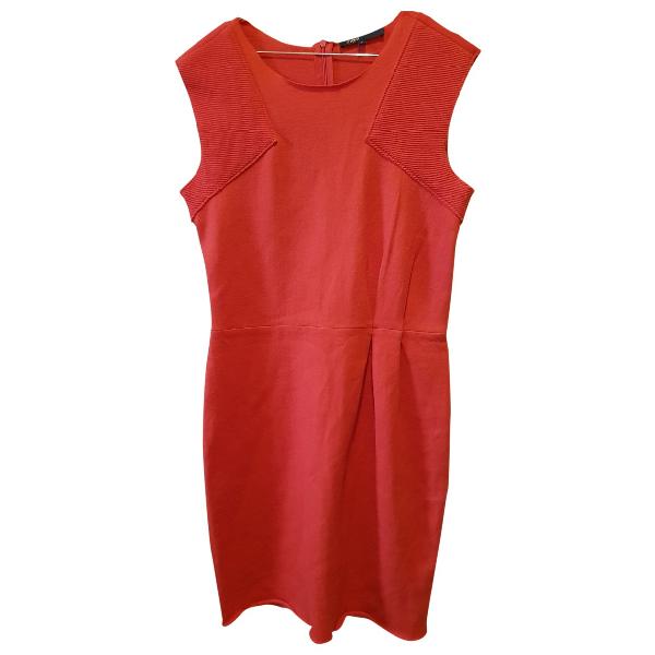 Maje Red Wool Dress