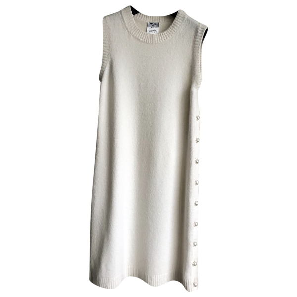 Chanel Ecru Cashmere Dress