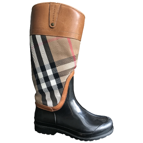 Burberry Brown Cloth Boots