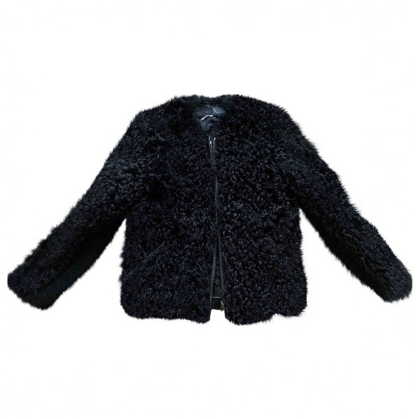 Isabel Marant Black Shearling Jacket