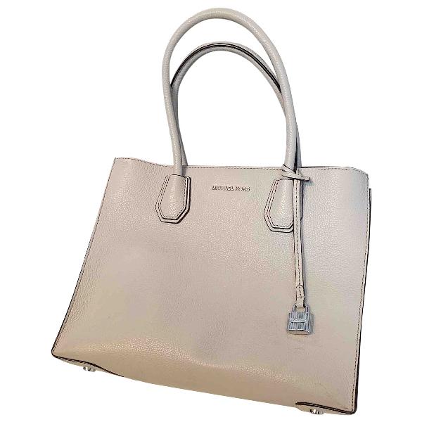 Michael Kors Mercer Beige Leather Handbag