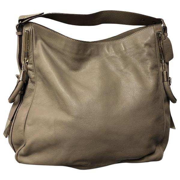 Jil Sander Beige Leather Handbag