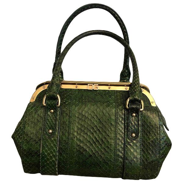 Dolce & Gabbana Green Python Handbag