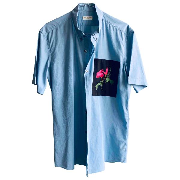 Dries Van Noten Blue Cotton Shirts