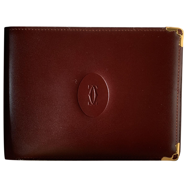 Cartier Burgundy Leather Small Bag, Wallet & Cases