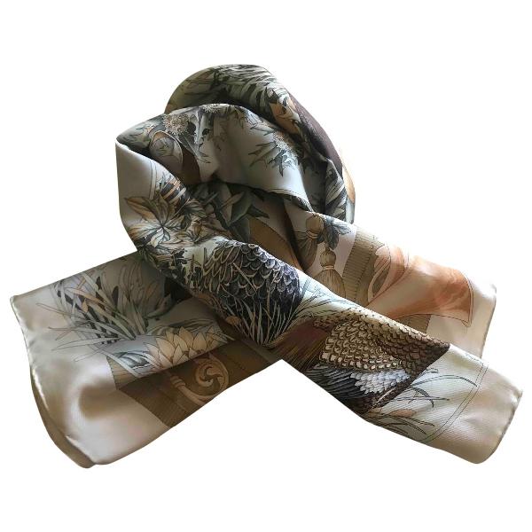 Salvatore Ferragamo Blue Silk Silk Handkerchief